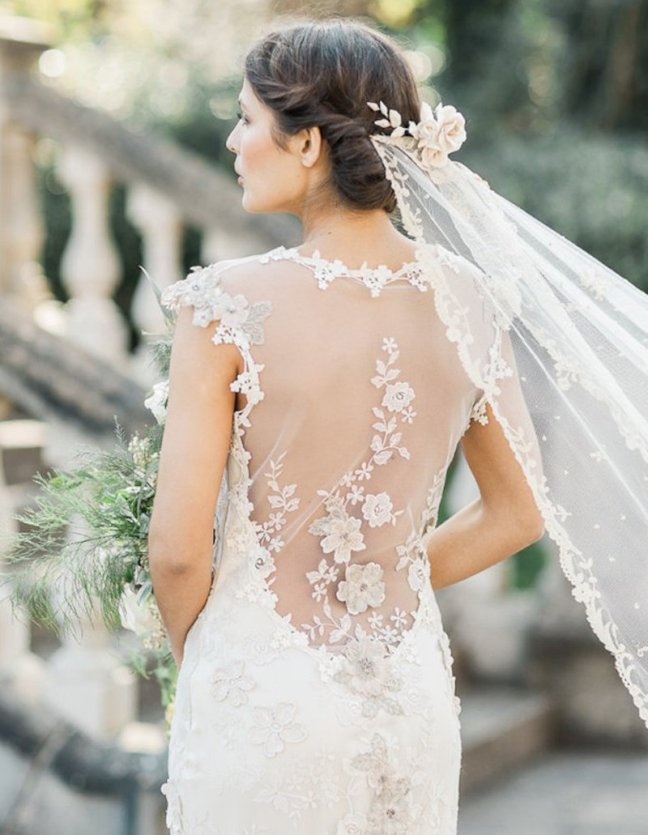A Beautiful back is a trademark feature of Claire Pettibone