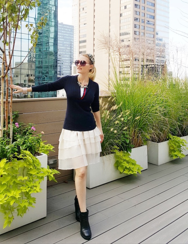 NYC Blogger on rooftop